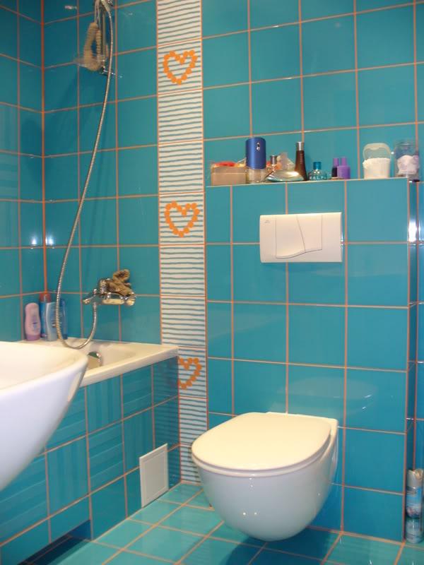 Helo Sauna For Sale : Idei Amenajari  Model baie decorata cu faianta albastra