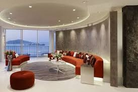 living modern cu scafa rotunda