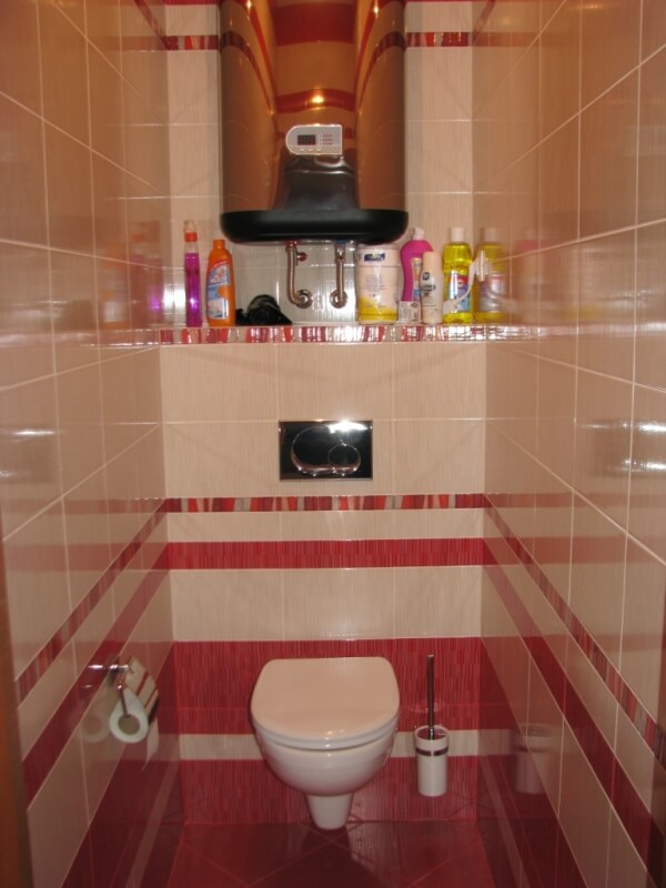 Плитки в туалет дизайн в квартире