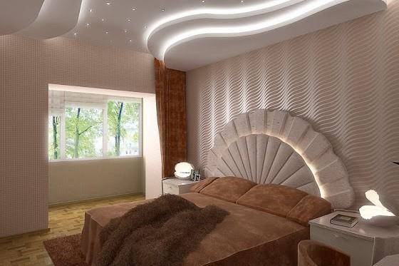 dormitor cu scafa rigips rotund