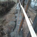 Stalpii de fier fixati beton