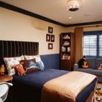 negru portocaliu model dormitor
