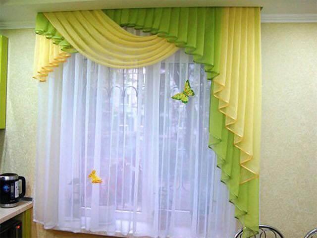 Idei Amenajari | draperii verde galbendraperii verde ...
