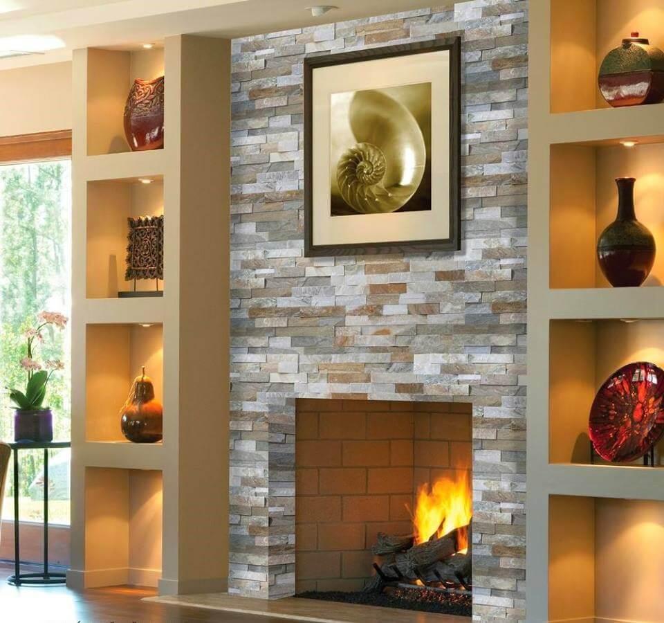living room modern cu semineu