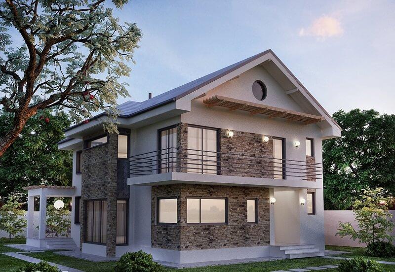 Idei amenajari un proiect de casa cu etaj care te va for Case cu etaj