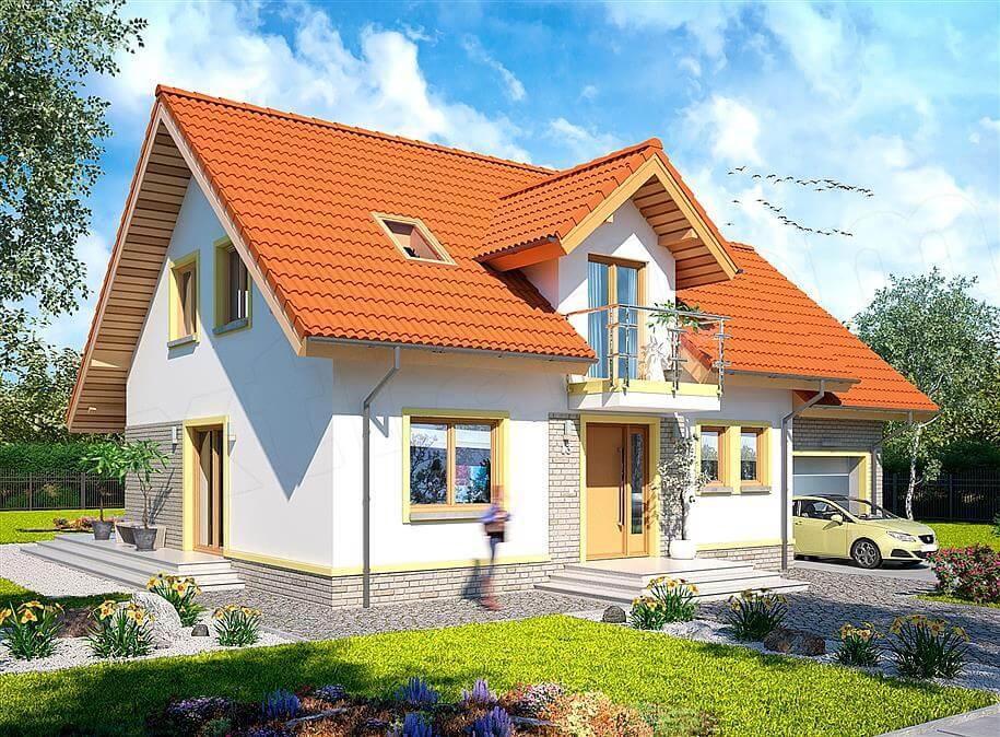 Cat de frumoasa e aceasta casa cu mansarda si garaj de 160 for Proiecte case cu garaj si mansarda